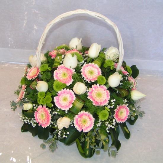 Flower Arrangement Pink Garden A7