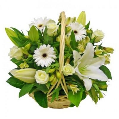 Flower Arrangement White Garden A6