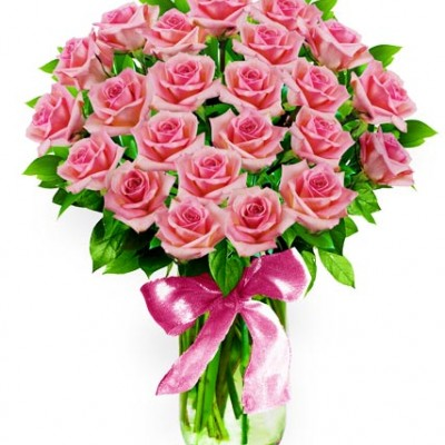 Bouquet 20 pink Roses M 43