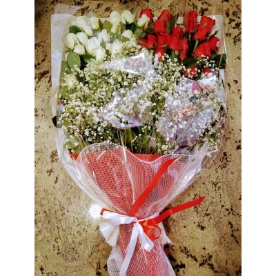 Bouquet with 50 roses M35