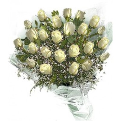 Bouqet with 25 white roses M36