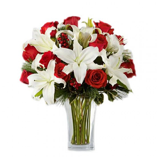 Bouquet with Red and White Love 3