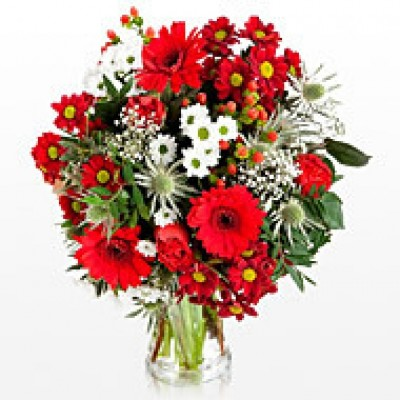 Bouquet with red colors Love 10