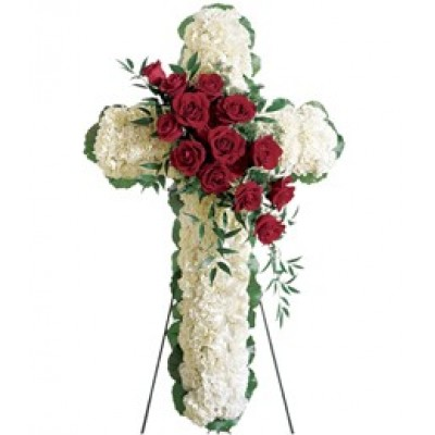 Cross with Flowers S12