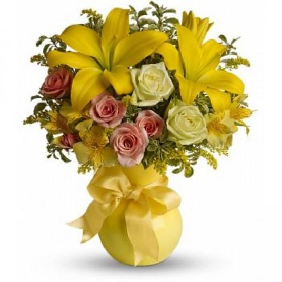 Bouquet White Beauty M 48